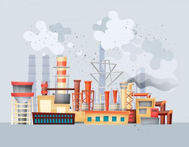 Milieuvervuiling door industrieel vuil afval