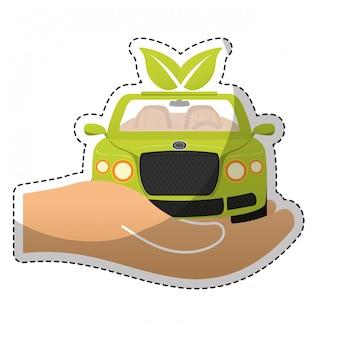 Milieuvriendelijk auto pictogramafbeelding