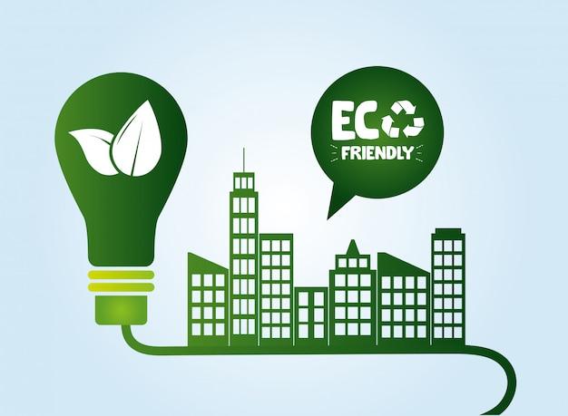 Milieuvriendelijke achtergrond