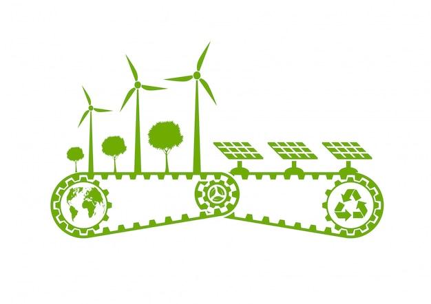 Milieuvriendelijke ontwikkeling van duurzame energie