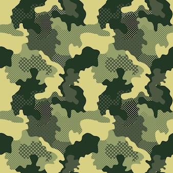 Militair en camouflagepatroon