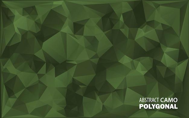 Militair leger. camouflage. gemaakt van geometrische driehoeken vormen. leger illustratie. veelhoekige stijl.