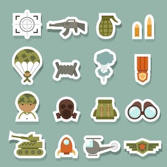 Militaire en oorlogs pictogrammen