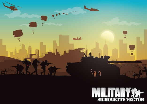 Militaire illustratie.