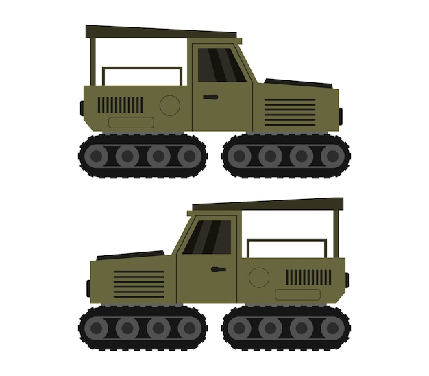 Militaire jeep op wit
