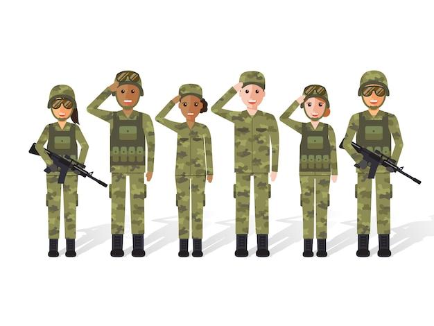 Militaire mensen.