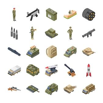 Militaire strijdkrachten leger pictogrammen pack