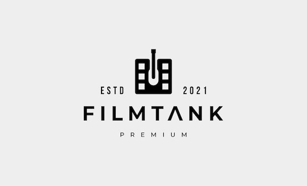Militaire tank eenvoudig logo ontwerp vectorillustratie
