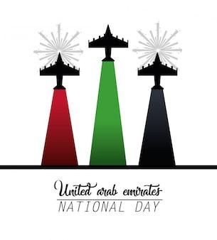Militaire vliegtuigen om nationale dag te vieren