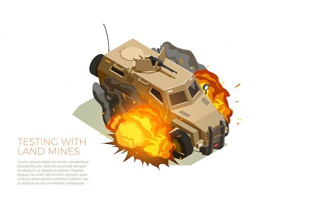 Militaire voertuigen testen isometrische samenstelling