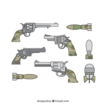 Militaire wapens met geweren en pistolen