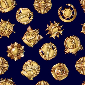 Military awards naadloze patroon