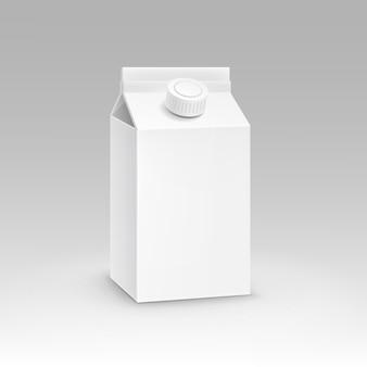 Milk juice carton packaging package box witte spatie geïsoleerde vector