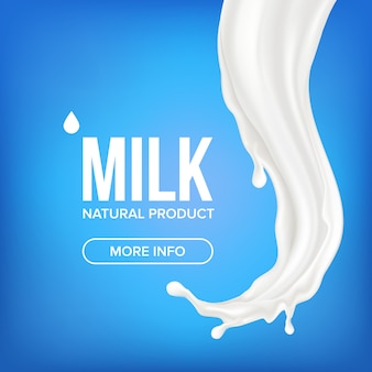Milk splash banner