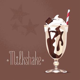 Milkshake illustratie, ontwerpelement