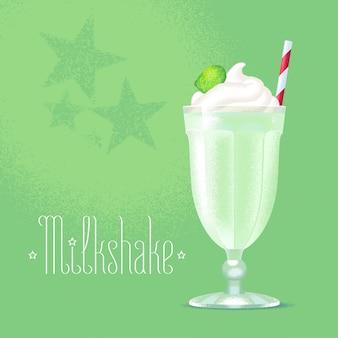 Milkshake illustratie