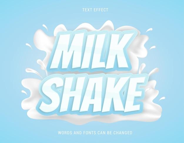 Milkshake-teksteffect 100 bewerkbare eps-vector
