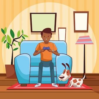 Millennials en videogames cartoons in zwart en wit