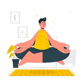 Mindfulness concept illustratie