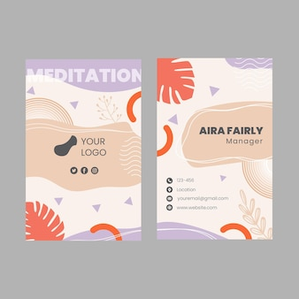 Mindfulness dubbelzijdig visitekaartje