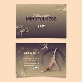 Mindfulness horizontaal visitekaartje