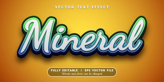 Mineraal teksteffect, bewerkbare tekststijl