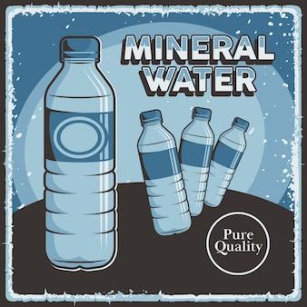 Mineraalwater bewegwijzering retro rustieke klassieker