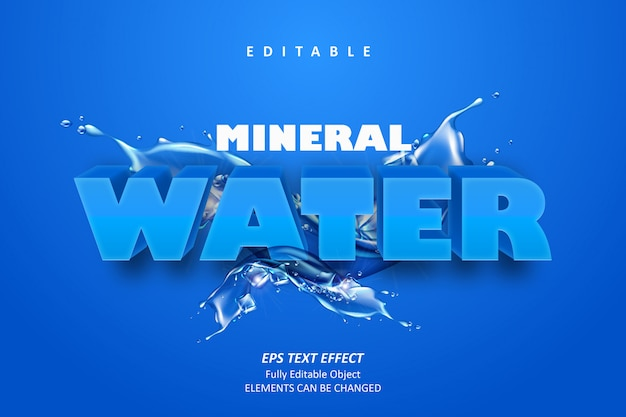 Mineraalwater bewerkbaar teksteffect
