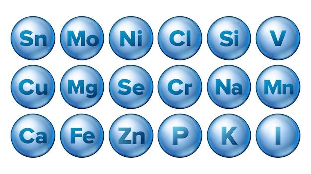 Minerale pictogrammen instellen.