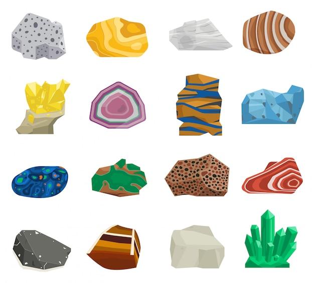 Minerale stenen set.