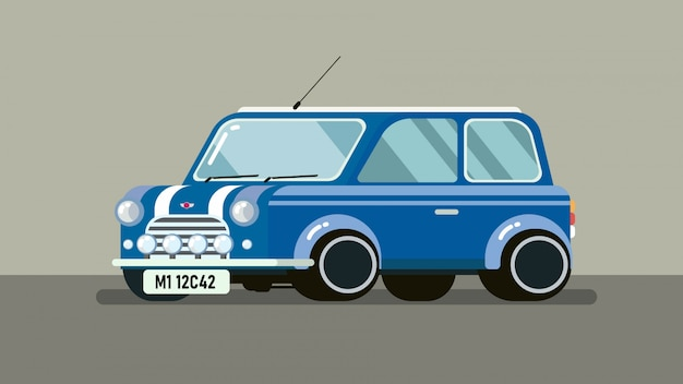 Mini car in blauwe kleur