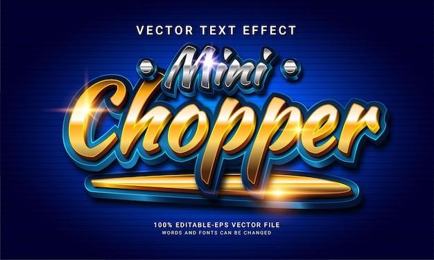 Mini chopper 3d bewerkbaar tekststijleffect