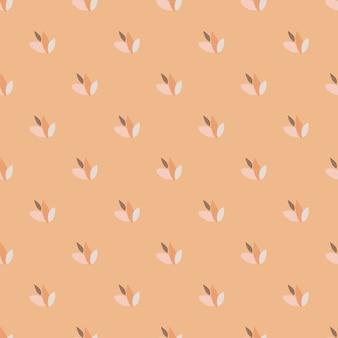 Mini verlaat naadloze patroon op pastel licht koraal achtergrond