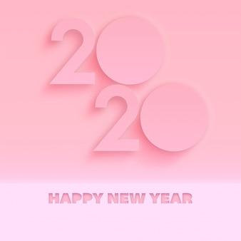 Minimaal 2020 nieuwjaarswenskaart