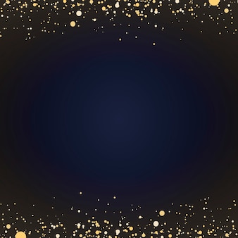 Minimaal behang met decoratieve gouden glitterdeeltjes