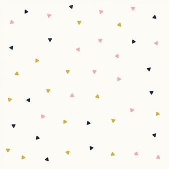 Minimaal driehoekspatroonontwerp in pastelkleuren