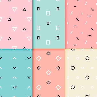 Minimaal geometrisch patroon decorontwerp
