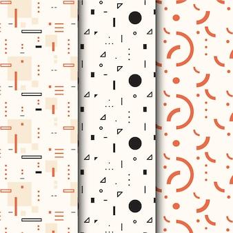 Minimaal geometrisch patroon vastgesteld concept