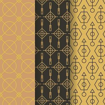 Minimaal geometrisch patroon vastgesteld thema