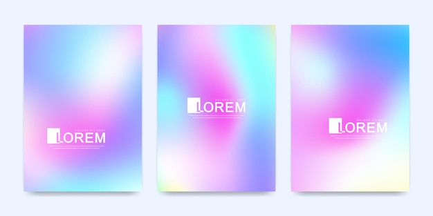 Minimaal hologramverloopnet voor brochure, folder, flyer, omslag, banner, web, poster