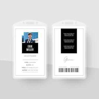 Minimaal id-kaarten sjabloonontwerp