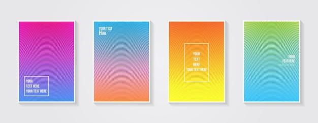 Minimaal modern omslagontwerp dynamische kleurrijke verlopen toekomstige geometrische patronen