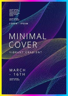 Minimaal omslagenontwerp met gradiënt gestippelde vorm moderne achtergronden voor flyer-posterbrochure
