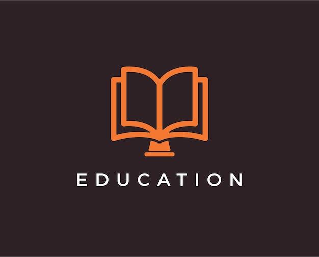 Minimaal onderwijs logo sjabloon