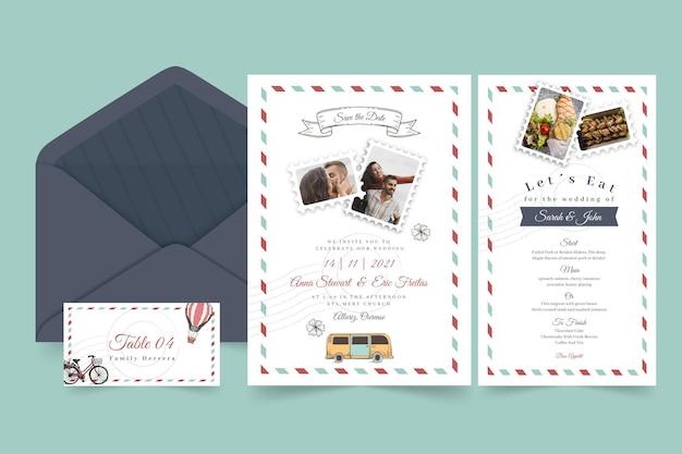 Minimaal pakket voor bruiloftsartikelen