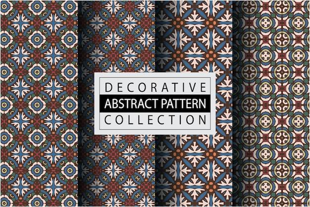 Minimaal patroon met etnische stijl