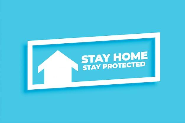 Minimaal verblijf thuisverblijf beschermd concept achtergrond