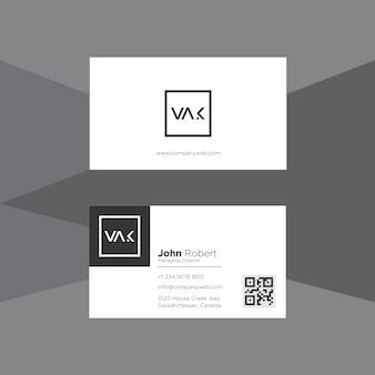Minimaal zwart en wit visitekaartje