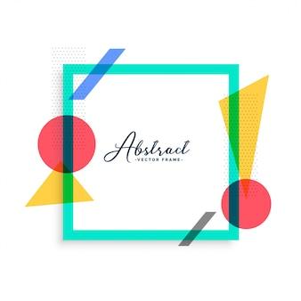 Minimale abstracte kleurenkadermalplaatje