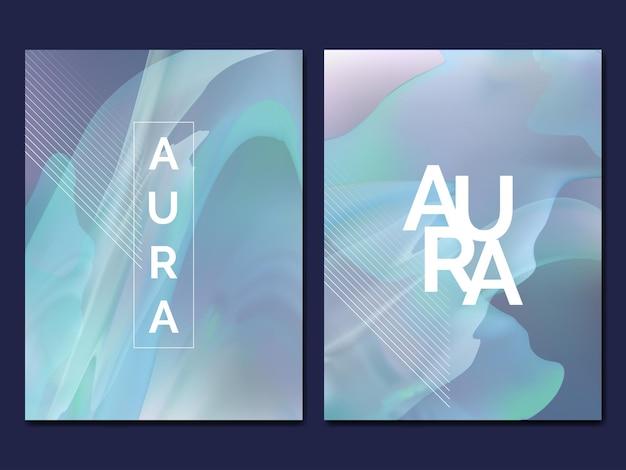 Minimale abstracte rook- of aura-effectdekking